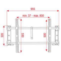 "PLB-7 Bracket per Plasma/LCD fisso da 37"" - 60"""