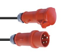PSSO CEE Extension 16A 5x2.5 10m red