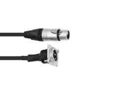 PSSO Patch Cable XLR(F)/XLR(M) S 1m bk