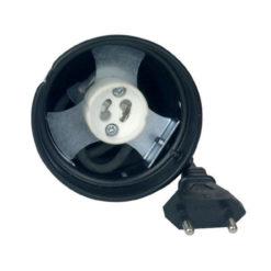 Parcan 16, GU10D socket Nero