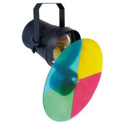 Parcan 36, Pinspot ColourChanger Set Nero