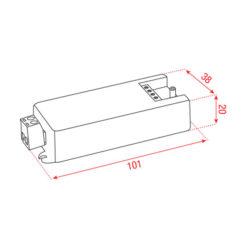 Play-I LED 1-10 VDC Dimmer 12-36Vdc 1x8A