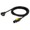 Powercable Neutrik Powercon True1 to Schuko 1,5m 3x 1,5mm2