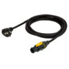 Powercable Neutrik Powercon True1 to Schuko 3m 3x 1,5mm2