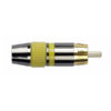 RCA Connector Male, Black housing Cappuccio finale giallo