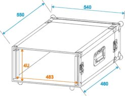 ROADINGER Amplifier Rack PR-2, 4U, 47cm deep