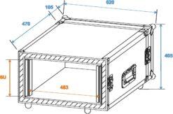 ROADINGER Amplifier Rack SP-2, 6U, shock-proof