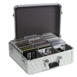 ROADINGER CD Case ALU polished for 100 CDs