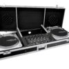 ROADINGER Console Road Pro for 2 Turntables black