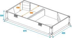 ROADINGER Flightcase 2x PAS-212