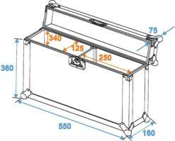 ROADINGER Flightcase 2x SLS Size M