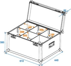 ROADINGER Flightcase 6x TMH-6/7/8/9 Clamp