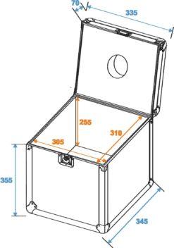 ROADINGER Flightcase Mirror Ball 30cm