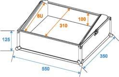 ROADINGER Mixer Case Pro MCB-19, sloping, bk, 6U