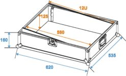 ROADINGER Mixer Case Pro MCV-19 variable bk 12U