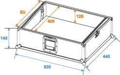 ROADINGER Mixer Case Pro MCV-19, variable, bk 8U
