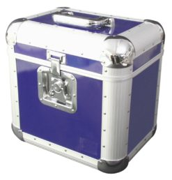 ROADINGER Record Case ALU 75/25, rounded, blue