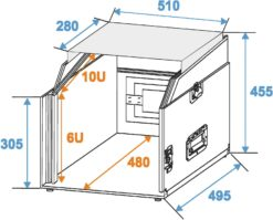 ROADINGER Special Combo Case LS5 Laptop-Desk, 6U