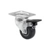 ROADINGER Swivel Castor 50mm grey with brake