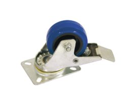 ROADINGER Swivel Castor 80mm blue with brake