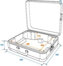 ROADINGER Turntable Case Tour ALU silver