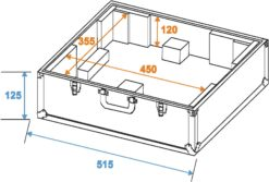 ROADINGER Turntable Case silver -S-