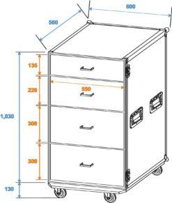 ROADINGER Universal Drawer Case ODS-1 with wheels