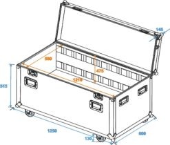 ROADINGER Universal Tour Case 120cm with wheels