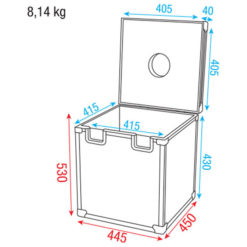 Roadcase for 40cm Mirrorball Custodia per sfera specchiata da 40 cm