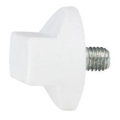 Rotary knob M10x12 (supporto telo) bianco