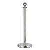 Round Top Cord Pole Argento