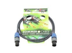 SOMMER CABLE Speaker cable Speakon 2x1.5 1.5m bk