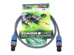 SOMMER CABLE Speaker cable Speakon 2x1.5 1m bk
