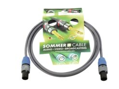 SOMMER CABLE Speaker cable Speakon 2x1.5 2.5m bk