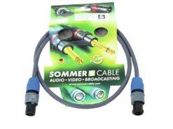 SOMMER CABLE Speaker cable Speakon 2x2.5 1m bk