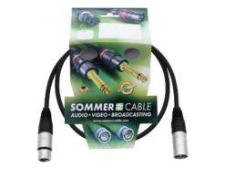 SOMMER CABLE XLR cable 3pin 0.5m bk Neutrik
