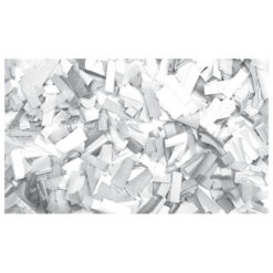 Show Confetti Rectangle 55 x 17mm Bianco, 1 kg Ignifugo