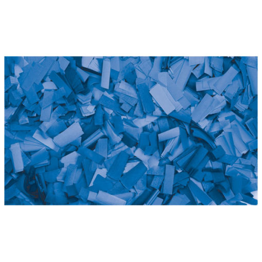 Show Confetti Rectangle 55 x 17mm Blu, 1 kg Ignifugo
