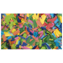 Show Confetti Rectangle 55 x 17mm Multicolore, 1 kg Ignifugo