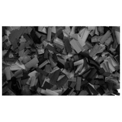 Show Confetti Rectangle 55 x 17mm Nero, 1 kg Ignifugo