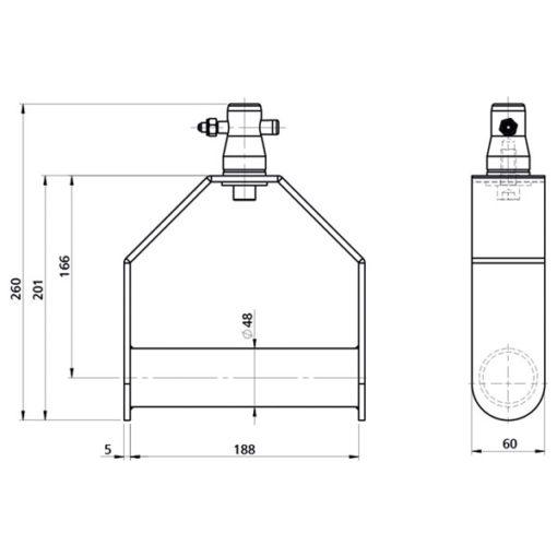 Single Downrigger Alluminio (GT/GQ)