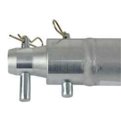 Single Tube 50mm, 100 cm Traliccio F con ricevitori femmina