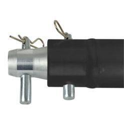 Single Tube 50mm, 100 cm Traliccio F con ricevitori femmina, colore: Nero