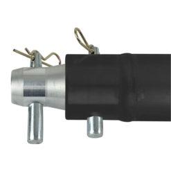 Single Tube 50mm, 100 cm Traliccio G con ricevitori femmina, colore: Nero