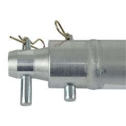 Single Tube 50mm, 25 cm Traliccio G con ricevitori femmina