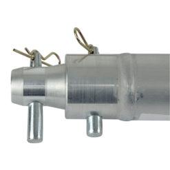 Single Tube 50mm, 25 cm Traliccio P con ricevitori femmina