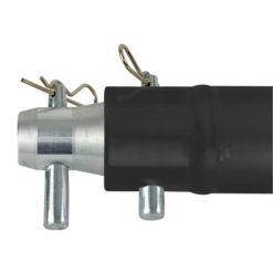 Single Tube 50mm, 50 cm Traliccio P con ricevitori femmina, colore: Nero