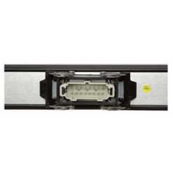 Sliding T-Bar TNP81 8 x Schuko da 200 cm e 1 x multiconnettori Ilme da 16