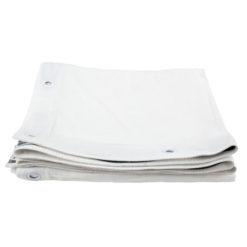Square cloth white 3,4 x 3,4 m