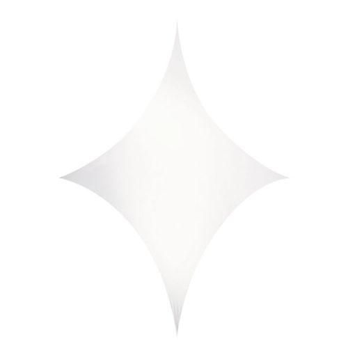 Stretch Shape Diamond 250cm x 125cm, colore bianco